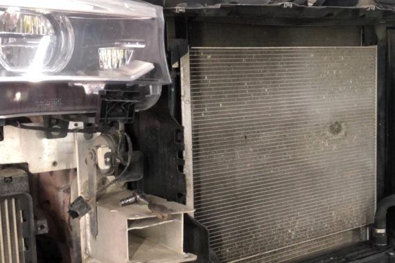 чистка радиатора мерседес