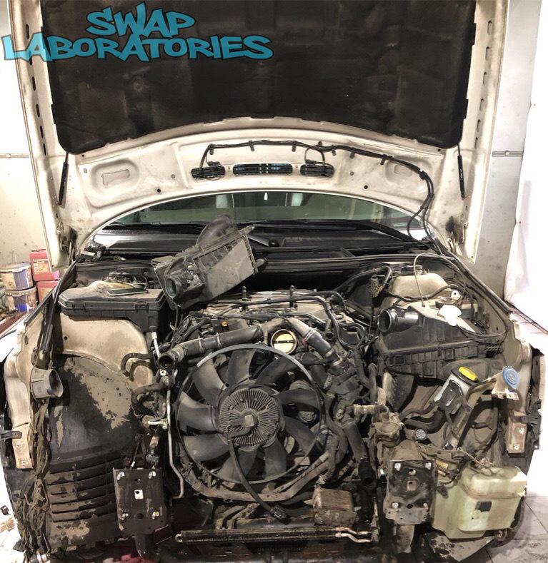 чистка радиатора Land Rover